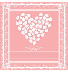 heart floral framework vector image vector image