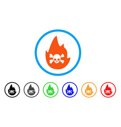 hellfire rounded icon vector image