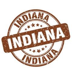 Indiana brown grunge round vintage rubber stamp vector