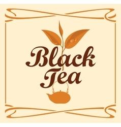 Label for black tea vector