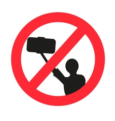 No selfie allowed sign vector