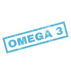 Omega 3 rubber stamp vector