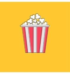 Popcorn icon cinema movie line icon in flat vector
