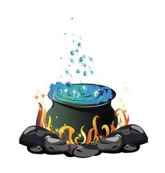 Potion cauldron vector
