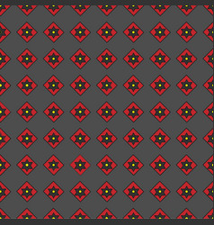 Seamless pattern of geometric shapes on a dark b vector