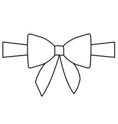 silhouette satin center ribbon and bow wrapping vector image vector image