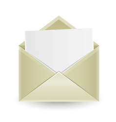 The opened envelope vector image vector image