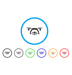 Video spy drone rounded icon vector