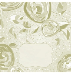Vintage Romantic Roses Card vector image vector image