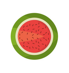 watermelon fruit food fresh vector image vector image