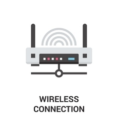 wireless connection icon vector image vector image
