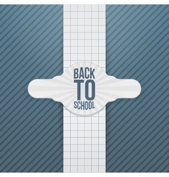 Back to school paper festive tag vector