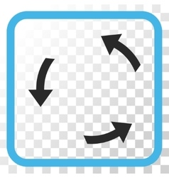 Rotate ccw icon in a frame vector