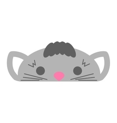 Cute furry cat animal vector
