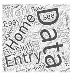 Data entry home work word cloud concept vector