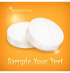 Pills on yellow vector image
