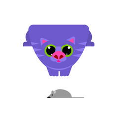 cute cat looking at mouse vector image