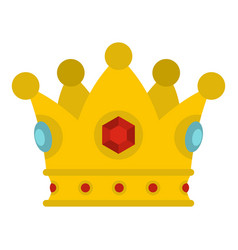 Precious crown icon isolated vector
