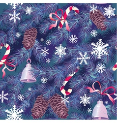 Christmas and new year background in blue colors vector