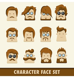Men character icon set vector