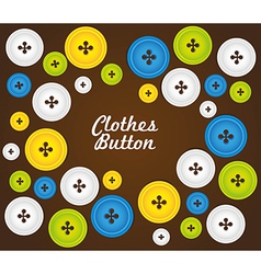 Pattern of colored buttons isolated on brown backg vector