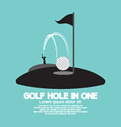 Golf hole in one sport symbol vector