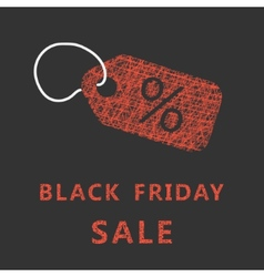 Sketch typography black friday sale with label vector