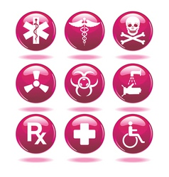 Set of medical icons vector