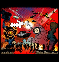 war explosions vector image