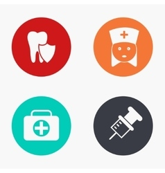 Modern medicine colorful icons set vector