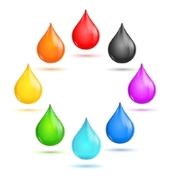 Drop rainbow set vector