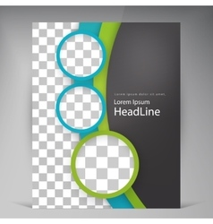 Abstract modern flyers brochure vector