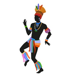 Ethnic dance brasilian man vector