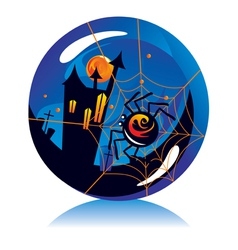 Halloween ball vector