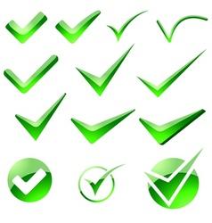 Glossy Check Mark vector image