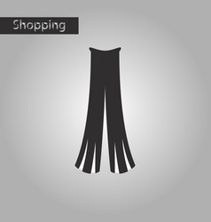 Black and white style icon women pants vector