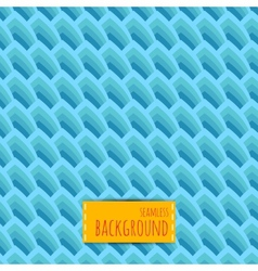 Blue seamless background with geometric waves vector image