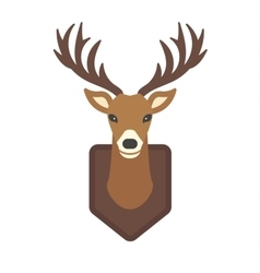 Cartoon deer head animal vector image