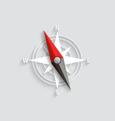 compass arrow isolated 3d vector image vector image