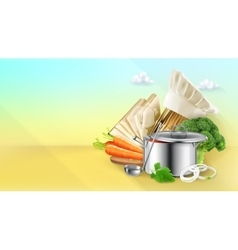 Cooking background vector image vector image