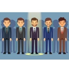 Employees job candidate selection business vector image vector image