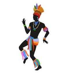 Ethnic dance brasilian man vector