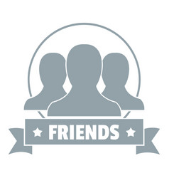 friends logo simple gray style vector image