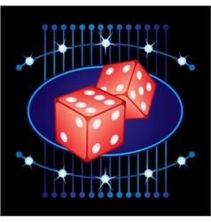 Gambling neon vector image