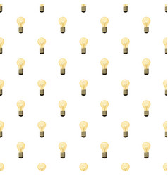 Glowing yellow light bulb pattern vector