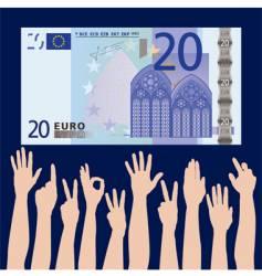 Hands euro vector