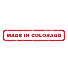 Made in colorado rubber stamp vector