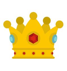 Precious crown icon isolated vector