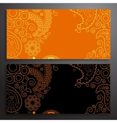 Retro pattern of shapes vector image