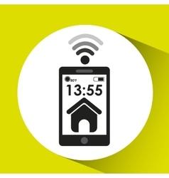 Smartphone display web page connection media vector